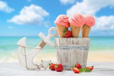 продажа мороженного летом