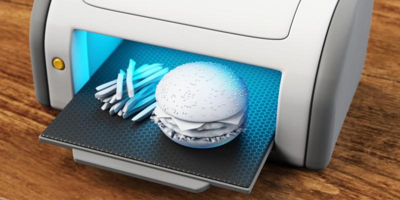 3D принтер печатает еду