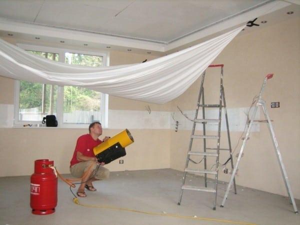 Технология установки натяжных потолков